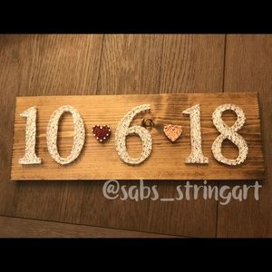 Other - Wedding date sign string art